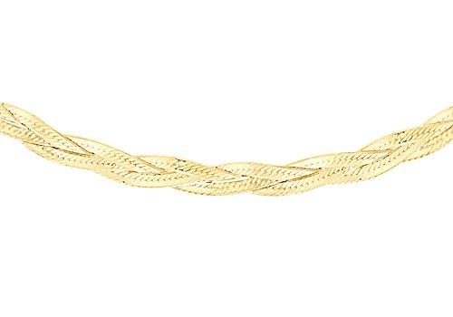 Carissima Gold Zopfkette 9 Karat 375er Gelbgold 3fach Strang 43cm 1.15.9850