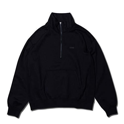 [アクター] スウェットシャツ AKTR SWEAT HALF ZIP TOP BLACK 日本 XL (日本サイズXL相当)