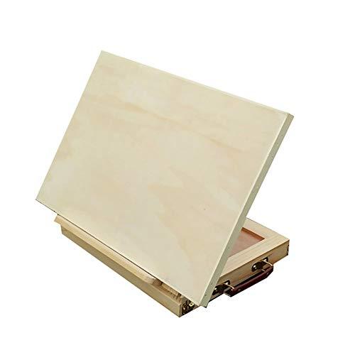 AWJ Caballete de Mesa de Escritorio,Caballete deMadera con cajón Plegable multifunción cinturón...