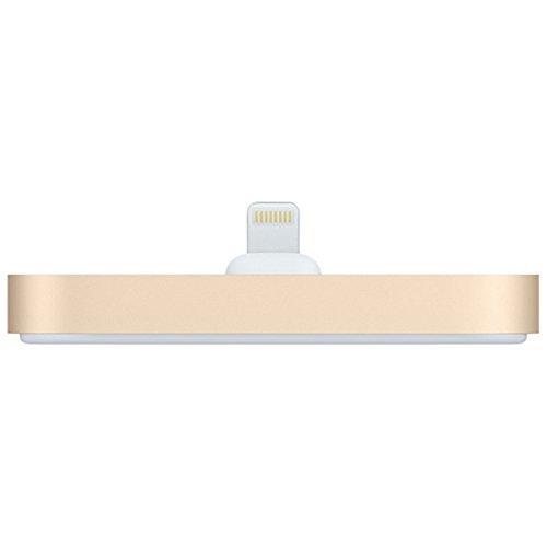 Appleアップル 純正 Lightning Dock ライトニング ドック iPhone/iPod touch 充電 スタンド 3.5mm ステレオ オーディオポート ゴールド