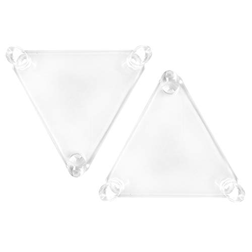 BCW Deluxe Acrylic Ball Stand - Hold Football, Basketball, Volleyball or Soccer Ball - Display Stand or Holder (2-Pack)