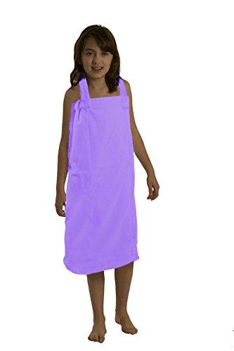 BY LORA byLora Girls Spa Wrap Towels, Medium, Lavender Wrap