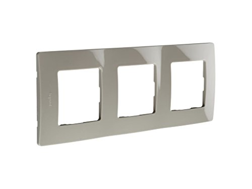 Legrand 397882 Marco Simple para 3 Interruptores, Gris