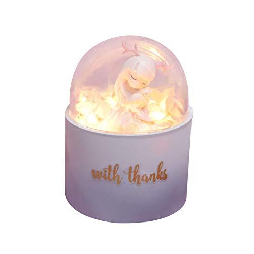 zyl Regalo de San Valentín - Muñeca en cúpula de Cristal, Blanca cálida LED, Fiesta en casa, Boda, día de San Valentín, Regalo Creativo de Bricolaje