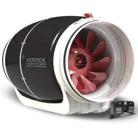 Vortex Powerfan 8'' S-Line In-Line Duct Fan S-800-ACS - 711 CFM with Current Sensor Kit