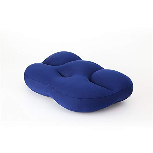 ARONTIME Rundum Wolkenkissen, Schlafkissen, 3D-ergonomisches Kissen, schützt die Halswirbelsäule, Kissen für tiefen Schlaf, inklusive Kissenbezug (mit blauem Bezug)