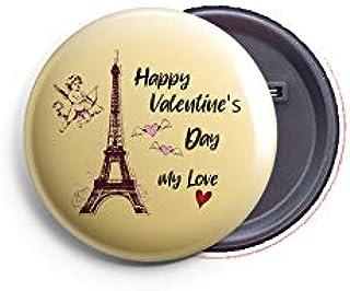 AVI Regular Size Fridge Magnet Beige Happy Valentines Day My Love Love Quote for Valentine 58mm Metal MR8002338
