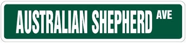 AUSTRALIAN SHEPHERD Street Sign Dog Pet Lover Breeder Groomer Indoor Outdoor 24 Wide Plastic Sign