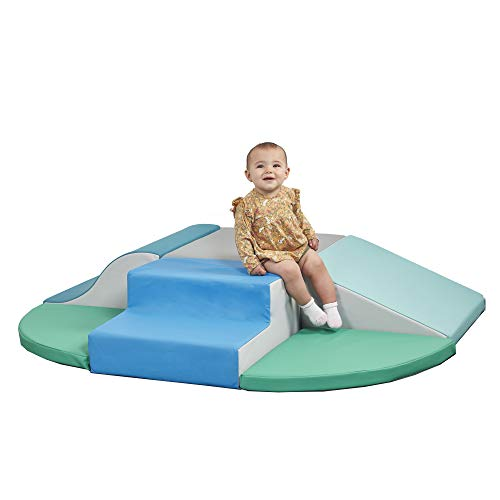 ECR4Kids SoftZone Little Me Wall Climb and Slide, Foam Climber for Indoor Active Play, Soft Structure Play Set for Toddlers and Kids - Contemporary