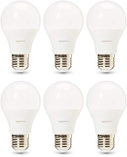 Amazon Basics Professional - LED-Leuchtmittel, Edison-Schraubgewinde (E27), entspricht 75-Watt-Birne, Warmweiß, 6 Stück