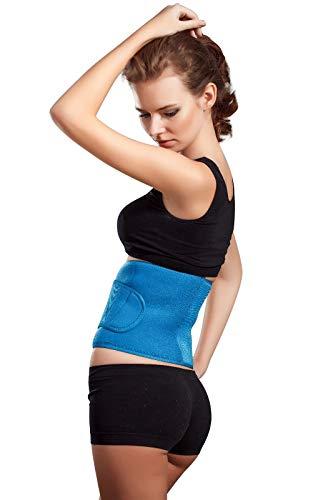 Hochwertige Rückenbandage aus Neopren, Rückenstütze, Nierengurt, Lumbalbandage (XXL, Blau)