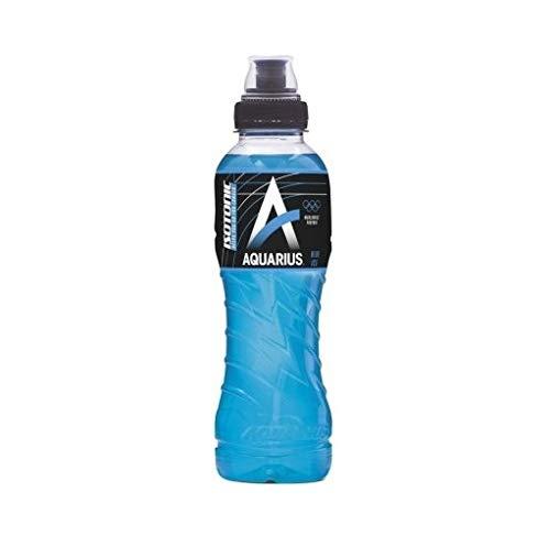 24 x Aquarius Sport Isotonic Blue Ice PET-Flaschen (24 x 0,5 L) EINWEG inkl. gratis FiveStar Kugelschreiber