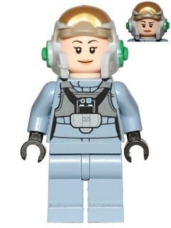 Star Wars Lego Minifigure A-Wing Pilot (75150) with Weapon