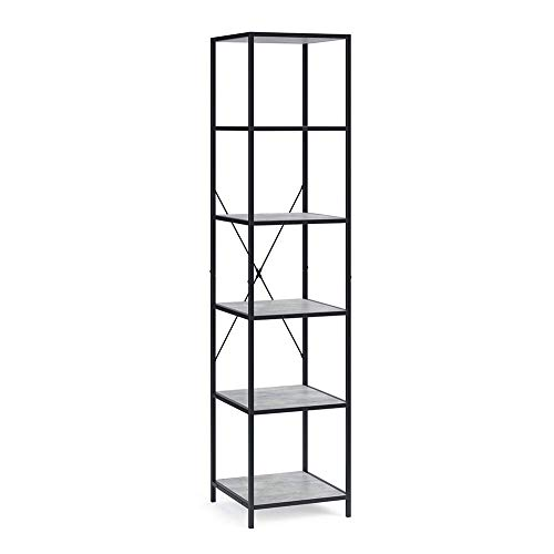 Vicco Loft Standregal Fyrk Bücherregal Wandregal Regal 174x40x40cm Beton