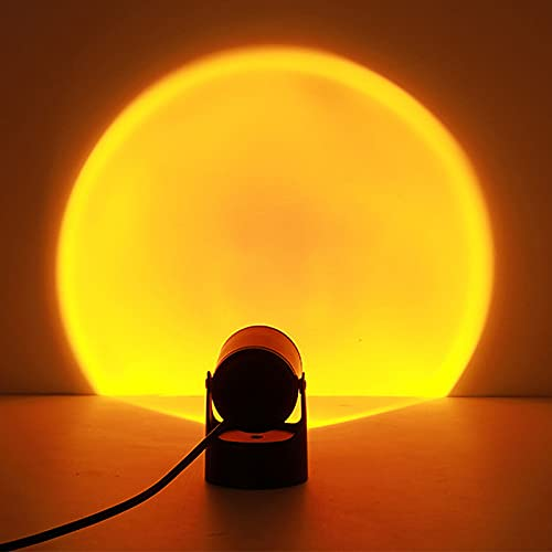 Sunset Lamp,Sunset Projection Lamp,USB Lámpara de proyección Sunset LED Proyector Lamp,Rotación 180°, Romántico Visual, Proyector de puesta de sol, lámpara de pie moderna, lámpara de noche para salón