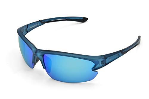 Gamswild Sonnenbrille WS6028 Sportbrille Skibrille Fahrradbrille Herren Damen Unisex | blau | rot-orange | violett, Farbe: Blau