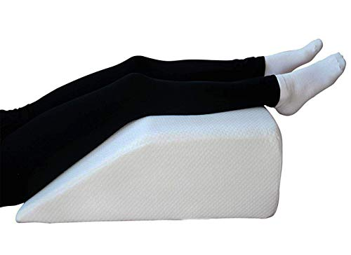 Orthologics Leg Rest Wedge Pillow - Memory Foam Clinical Therapeutic Grade Post Surgery Bed Rest Recovery Leg Back Hip Pain Circulation, Varicose Veins Cushion OL16