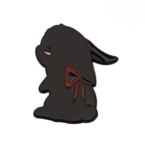 wangk Anime Metal Rabbit Flauta Insignia Colección Medalla Bedge Botón Broche Pin Souvenir Props BRH5788H02