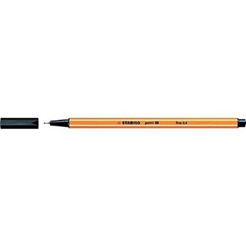 Feinschreiber STABILO point 88®, Strichstärke 0,4mm, schwarz, PG=10 Stück