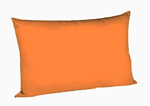 Fleuresse Colours Kissenbezug, Mako Satin, Orange, 50 x 80 cm