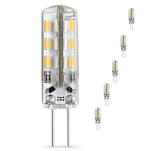 FIBE Bombillas LED G4 12 V iluminación equivalentes 15 W halógenas, luz blanca para campana extractora, lámpara de baño o muebles ideales para una iluminación suave, armoniosa y pacífica