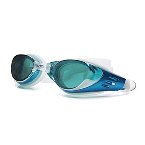 JYDZSW Gafas de natación Hombres de Verano Mujeres Electroplate Natación Gafas Impermeable Gafas Anti Niebla Agua Buceo Piscina Vidrios (Color : Sky Blue, Eyewear Size : Adjustable)