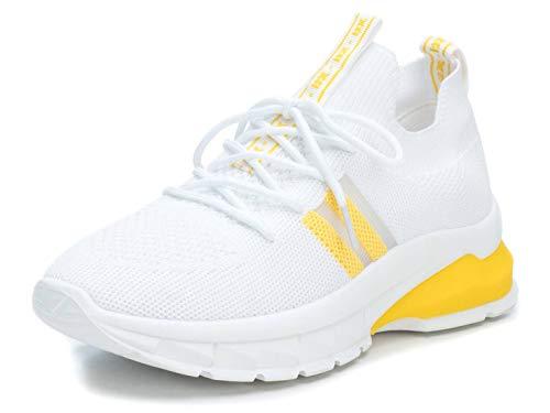 XTI Damen 49956 Sneakers, Gelb (Amarillo Amarillo), 38 EU