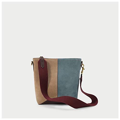 QXbecky Otoño e invierno bolso grande bolso de cubo de cuero mate a juego de color retro bolso de hombro salvaje bolso de mensajero de gran capacidad 26.5x21x12cm Amazon