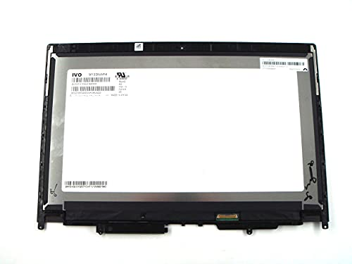 Piezas genuinas para Lenovo ThinkPad Yoga 370 13.3 'FHD pantalla LCD táctil módulo con bisel para cámara agujero 01HY322 01LW129