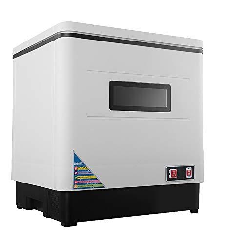 TEHWDE tafelvaatwasser, vrijstaande vaatwasser, vaatwasmachine, elektronische programmabesturing, 360 ° spray, 420 x 380 x 450 mm