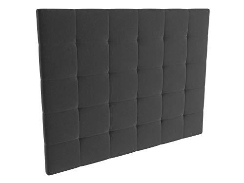 LA WEB DEL COLCHON - Cabecero tapizado Celio para Cama de 150 (160 x 120 cms) Gris Oscuro Textil Suave