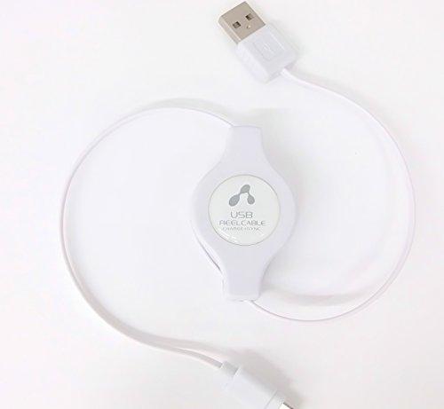 エアージェイMFI認証USBライトニングケーブル巻取りタイプ90cmiPhone6Plus/6/5S/5C/5/iPadAiriPadmini/iPodnano/iPadminiRetina対応対応充電データ通信ホワイトMUJ-RWH