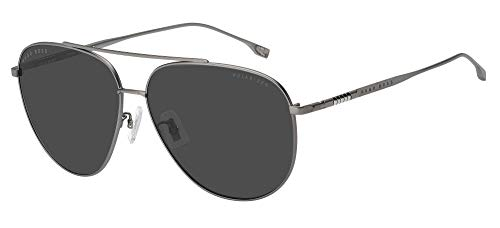 Hugo Boss Gafas de Sol BOSS 1296/F/S Dark Ruthenium/Grey 63/13/145 hombre