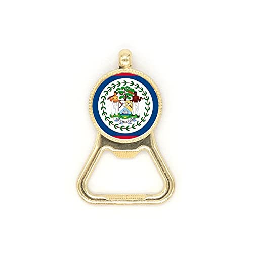 Belize Flagge Nordamerika Land Bierflaschenöffner Edelstahl Schlüsselanhänger