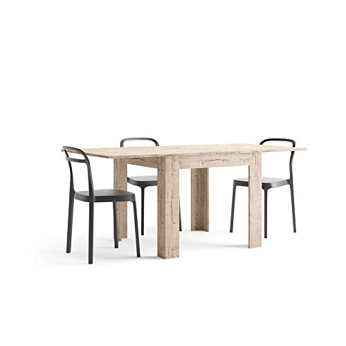 Mobili Fiver, Square extendable dining table, Eldorado, Oak, Laminate-finished, Made in Italy