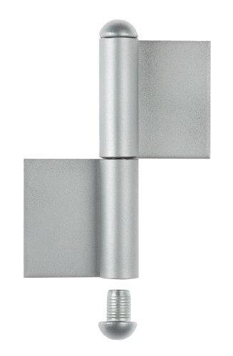 Gah-Alberts 414467 - Cerniera per cancelli metallici, tipo KO4, in 2 pezzi, da saldare, altezza 180 mm