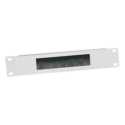 HMF 63389-07 Kabeldurchführung mit Bürsteneinsatz für Serverschrank | 10 Zoll | Lichtgrau