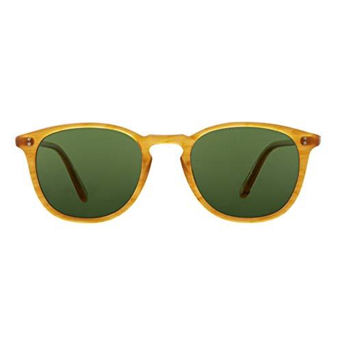 Garrett Leight Sunglasses KINNEY BT Butterscotch With Pure Green Glass 47 NEW