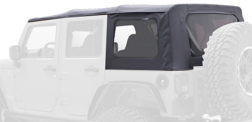 Smittybilt 9085235 Black Diamond Replacement Top with Tinted Side Windows for Jeep JK 4-Door