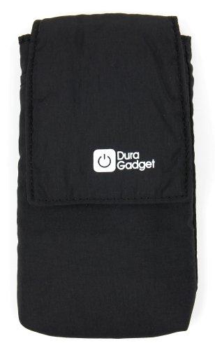 DURAGADGET Leichte, hochwertige & sehr tragbare Nylon Smartphone Tasche mit Gürtelschlaufe in Schwarz - passend für OUKITEL K5