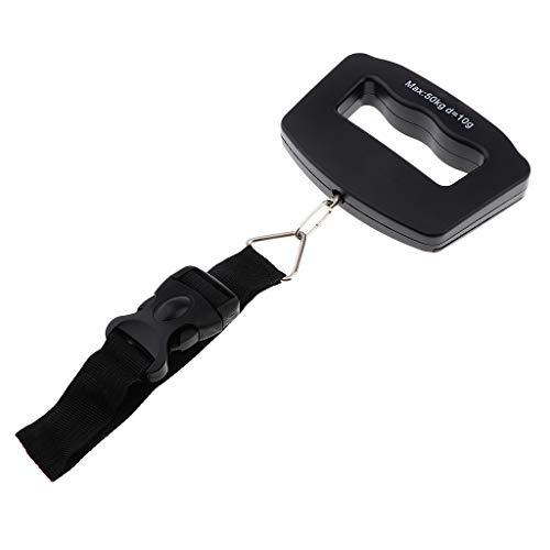 B Baosity Balanza de Mano Digital Pantalla LCD Báscula de Presición 0.1 LB / 0.05kg para Maletas Equipaje de Viaje