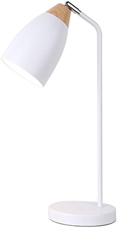 Eisen Craft Tischlampe Led Augenschutz Schreibtischlampe Wei Schlafzimmer Studie Nachtlicht (E27 - Keine Glühbirne Druckschalter)