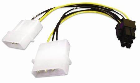 Akasa AK AK-Cb4 ' 6 ' Adapter Kabel Molex 4 Pin PCIe 6-Pin
