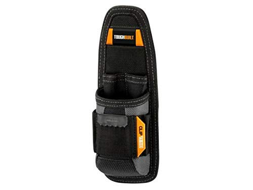 ToughBuilt - Utility Pouch - 6 Pockets and Loops, Steel Belt Clip, Tape Measure Clip, Heavy-duty Construction, Plastic-lined Utility Knife Pocket, Tool Storage/Organizer Box - (TB-30)