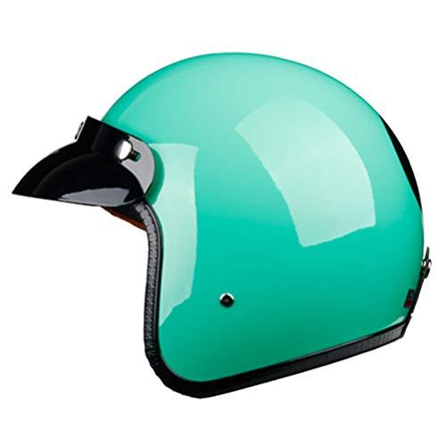 Motocicleta Ciclismo Bicicleta Visor solar 3/4 Medio casco Casquillo abierto para moto Halley