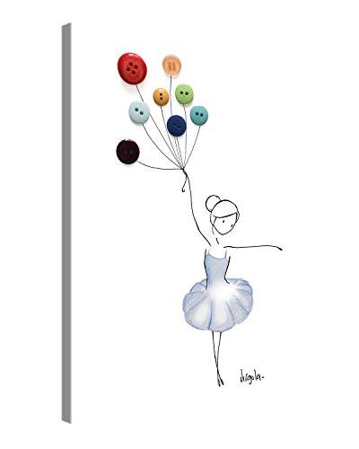PICANOVA Balloon Dancer 80x60cm – Premium Leinwanddruck – Kunstdruck Auf 2cm Holz-Keilrahmen Für Schlaf-Und Wohnzimmer Von Virgola Art Druck Auf Leinwand