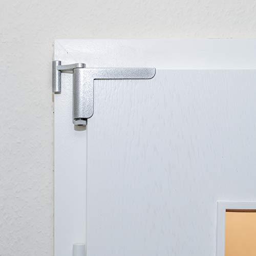GetaDoor MOTS V3 der Mini-Türschließer / Anlehner in silber - einfache Montage - kein Bohren oder Schrauben