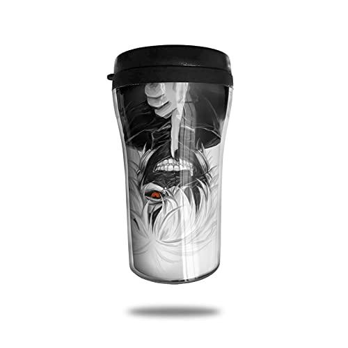 Tokyo Ghoul Taza de café con aislamiento al vacío, termo taza de doble pared, taza de viaje, bebida de viaje de viaje