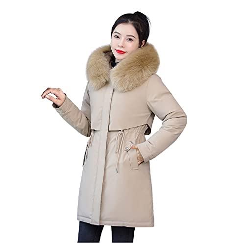 MJGkhiy Softshelljacke - Fleecejacke Damen mit Kapuze Outdoor Warme Freiensport Trainingsanzug Lose Winterjacken für Damen