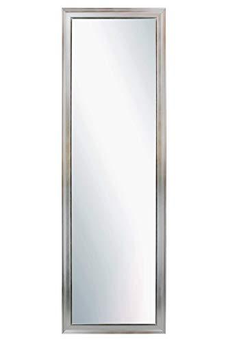 CHELY INTERMARKET, Espejo de Pared Cuerpo Entero Medidas 30X130 cm (37,50x137,50 cm) Plateado/Mod-155, Ideal para peluquerías, Comedor, Dormitorio y oficinas. Fabricado en España. Material Madera.